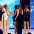 """Cheryl, Anne-Marie et les chanteuses du groupe Little Mix - Soirée de la 2ème édition """"The Global Awards 2019"""" à Londres le 7 mars 2019."""