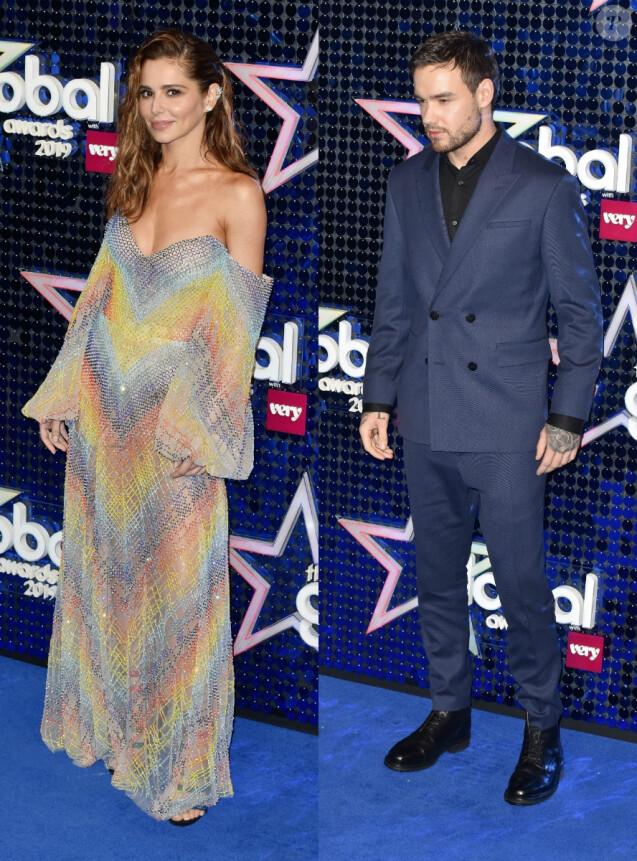 Les ex-compagnons (et parents d'un petit garçon prénommé Bear) Cheryl et Liam Payne aux Global Awards. Londres, le 7 mars 2019.