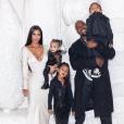 Kim Kardashian et Kanye West avec leurs enfants. Décembre 2018.
