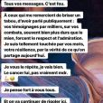Agathe Auproux donne de ses nouvelles sur Instagram après avoir annoncé être atteinte d'un cancer, le 12 mars 2019.