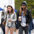 Exclusif - Paris Jackson et son compagnon Gabriel Glenn font du shopping à Los Angeles, Californie, Etats-Unis, le 12 février 2019.