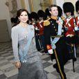 Le prince Frederik de Danemark et la princesse Mary au banquet royal annuel pour les diplomates et ambassadeurs au chateau de Christiansborg à Copenhague le 3 janvier 2019.