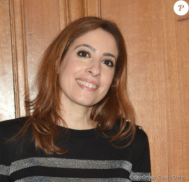 Léa Salamé - Soirée de remise du Prix Philippe Caloni 2018 à la Scam (Société civile des auteurs multimedia) à Paris le 19 février 2019. © Coadic Guirec/Bestimage
