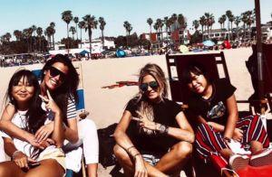 Laeticia Hallyday : Son anniversaire sur le sable, avec ses filles et ses amies