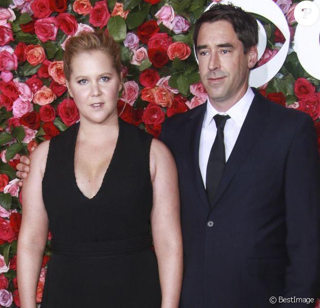 Amy Schumer et son mari Chris Fischer - 72ème cérémonie annuelle des Tony Awards au Radio City Music Hall à New York, le 10 juin 2018.