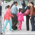 Michelle Obama hier avec sa mère et ses filles lors d'une visite de la Tour Effeil