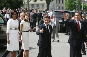 Carla Bruni et Michelle Obama éclipsent leurs maris ! Des retrouvailles glamour et chaleureuses !