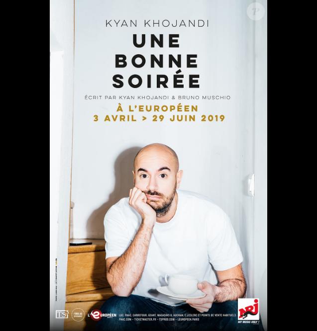 """Kyan Khojandi à l'affiche du specacle """"Une bonne soirée"""", actuellement en tournée dans toute la France - 2019."""