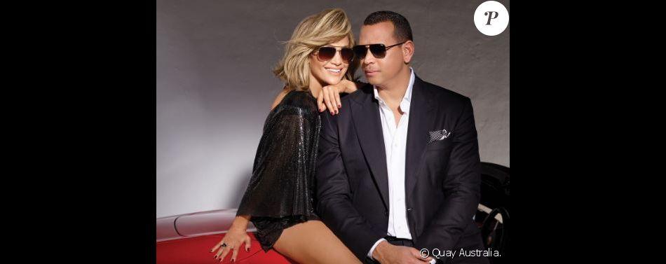 Jennifer Lopez et son fiancé Alex Rodriguez partagent une campagne de pub pour la marque Quay Australia. Mars 2019.