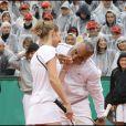 Steffi Graf et Mansour Bahrami jouent à Roland-Garros le 6 juin 2009