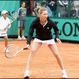 Steffi Graf et Andre Agassi jouent à Roland-Garros pour leurs associations le 6 juin 2009