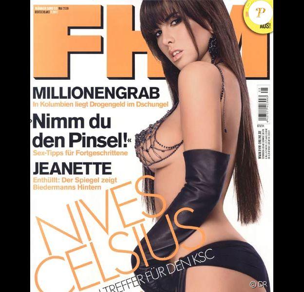 Nives Celzijus sur la couverture d'FHM Allemagne. Mai 2009