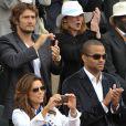 Les couples Tony Parker/Eva Longoria et Bixente Lizarazu/Claire Keim à fond dans le tennis...