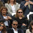 Le couple Tony Parker/Eva Longoria installé à côté d'Isabelle Adjani, avec le couple Bixente Lizarazu/Claire Keim