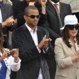 Le couple Tony Parker/Eva Longoria  et Isabelle Adjani, applaudissent la victoire de Federer