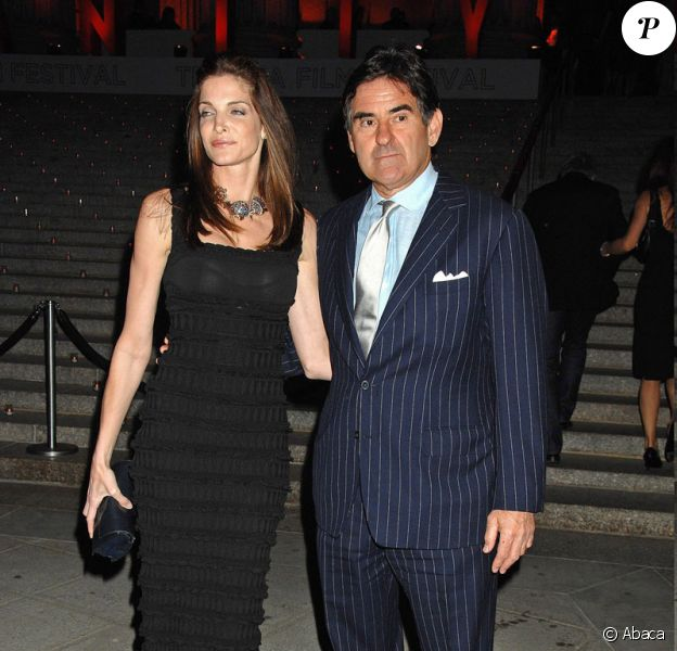 Stephanie Seymour et son futur ex-mari Peter Brant