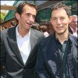 Alexandre Bompard et Marc-Olivier Fogiel à Roland-Garros
