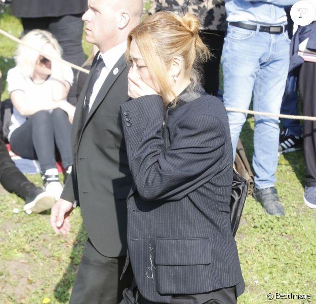 Mayumi Kai, la veuve de Keith Flint - Obsèques de Keith Flint, chanteur du groupe The Prodigy à l'église St Mary, Bocking, Essex, le 29 mars 2019.