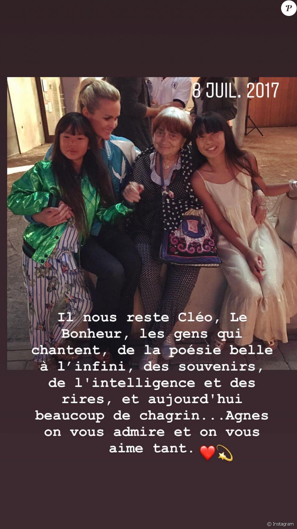 Hommage de Laeticia Hallyday à Agnès Varda - 29 mars 2019