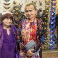 Agnès Varda et sa fille Rosalie Varda - A l'occasion du lancement des Journées Européennes du Patrimoine, Kering organise un cocktail au sein de son siège à Paris, France, le 14 septembre 2018. © Olivier Borde/Bestimage