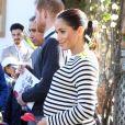 Meghan Markle (enceinte), duchesse de Sussex en visite à la Villa des Ambassadeurs à Rabat lors de leur voyage officiel au Maroc. Le 25 février 2019.