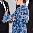 Catherine Kate Middleton (enceinte), duchesse de Cambridge lors d'une réception à la galerie Fotografiska à Stockholm, un musée consacré à la photographie le 31 janvier 2018.