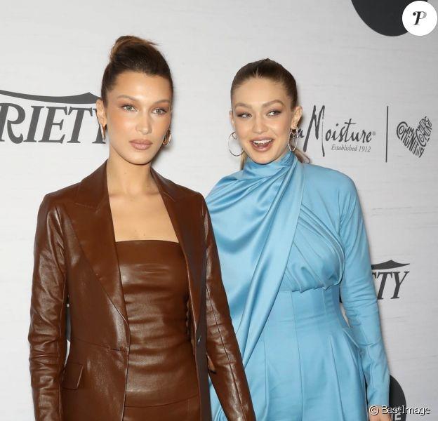 Bella Hadid et Gigi Hadid à la soirée Variety's Power Of Women par Lifetime au Cipriani Midtown à New York City, New York, Etats-Unis, le 5 avril 2019.