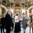 Les premières dames Brigitte Macron et Peng Liyuan ( femme du président de la république populaire de Chine) en visite à l'Opéra Garnier pour assister à des répétitions, Paris le 25 Mars 2019 © Romain Gaillard / Pool / Bestimage