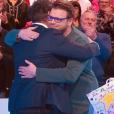 """Jean-Luc Reichmann et Benoît dans """"Les 12 Coups de midi"""", le 8 avril 2019."""