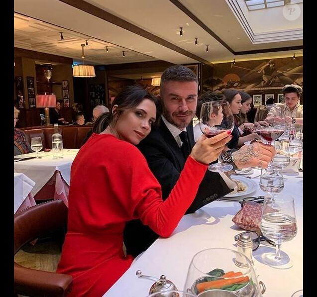Victoria et David Beckham à Londres. Février 2019.