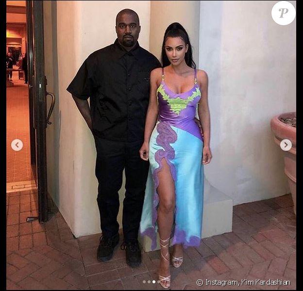 Kanye West et Kim Kardashian. Mars 2019.