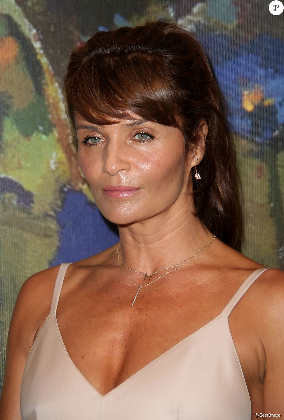 Model Helena Christensen attends the 2017 Take Home A Nude