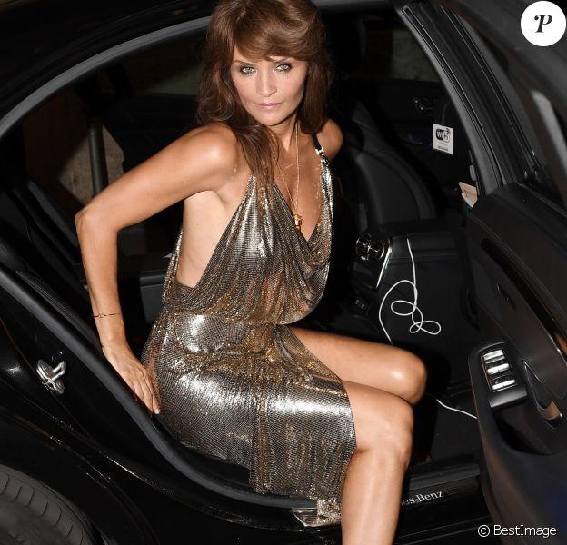 """Helena Christensen - People à l'After Party du défilé de mode printemps-été 2018 """"Versace"""" lors de la fashion week de Milan. Le 22 septembre 2017."""
