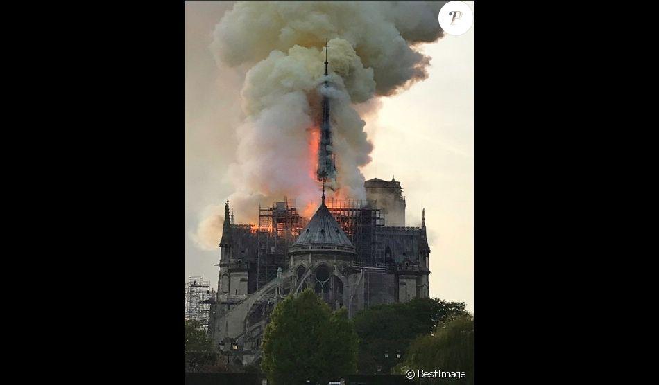 Incendie de la cathédrale Notre-Dame de Paris, le 15 avril 2019 ©Renan Keraudran / Bestimage