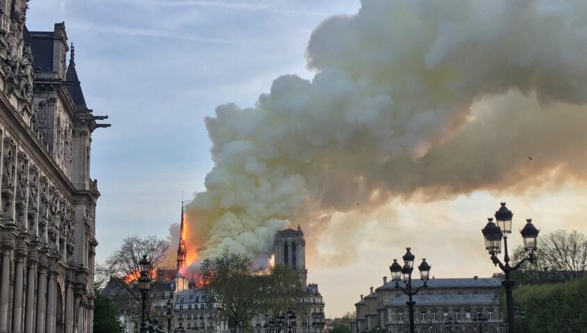 Incendie de la cathédrale Notre-Dame de Paris, le 15 avril 2019 ©Anna Boitard / Bestimage