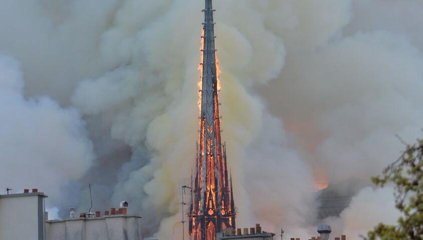 Incendie à la cathédrale Notre-Dame de Paris, le 15 avril 2019.