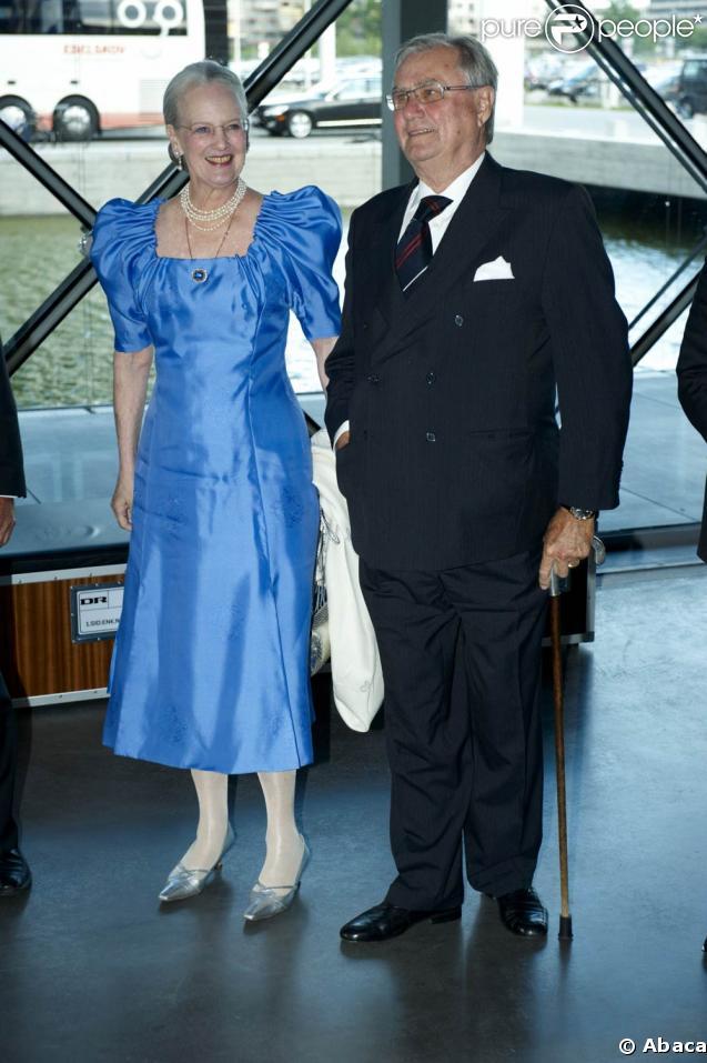 Królowa Danii Małgorzata II i książę Henryk, w dniu jego 75. urodzin