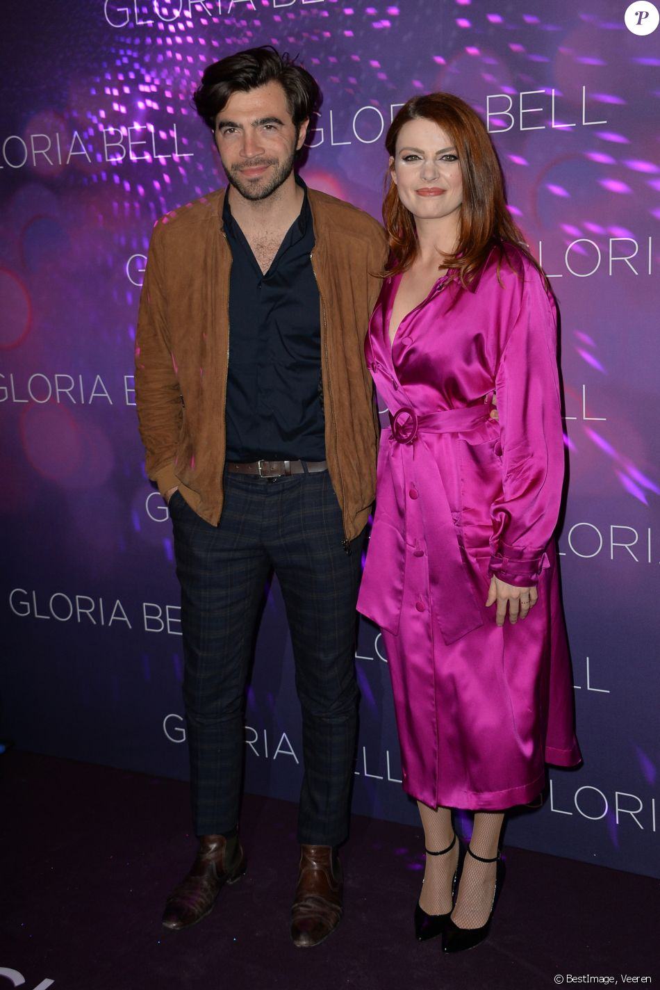 """Elodie Frégé et son compagnon Gian Marco Tavani - Avant première du film """" Gloria Bell """" à Paris le 15 avril 2019 . © Veeren/Bestimage"""