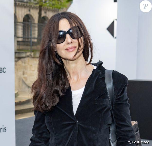 Exclusif - Monica Bellucci lors de la soirée HSBC au salon PAD (Paris Art Design) à Paris le 2 avril 2019. © Julio Piatti / Bestimage