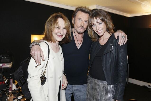 Exclusif - Nathalie Baye et Laura Smet au concert de Johnny Hallyday au POPB de Bercy a Paris - Jour 2. Le 15 juin 2013