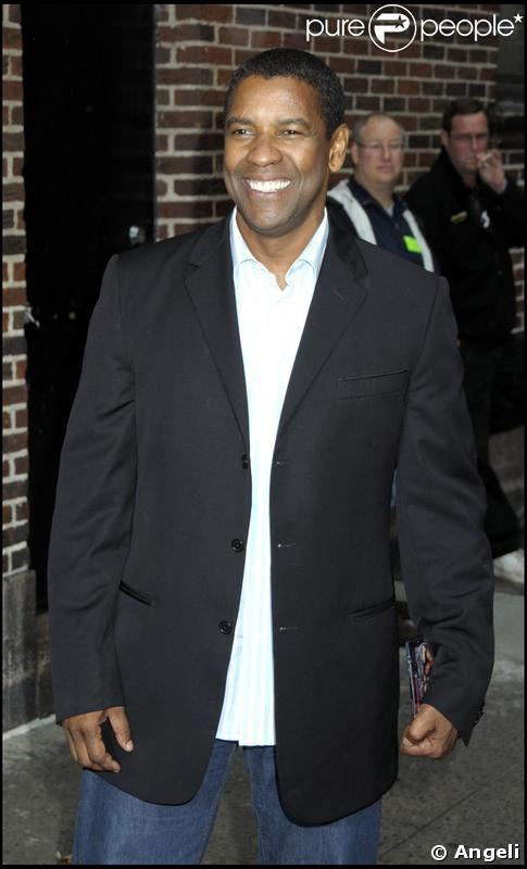 Denzel Washington au David Letterman Show à New-York le 11 juin 2009