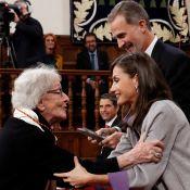 Letizia et Felipe d'Espagne : Chaleureux moment avec Ida Vitale, sacrée à 95 ans