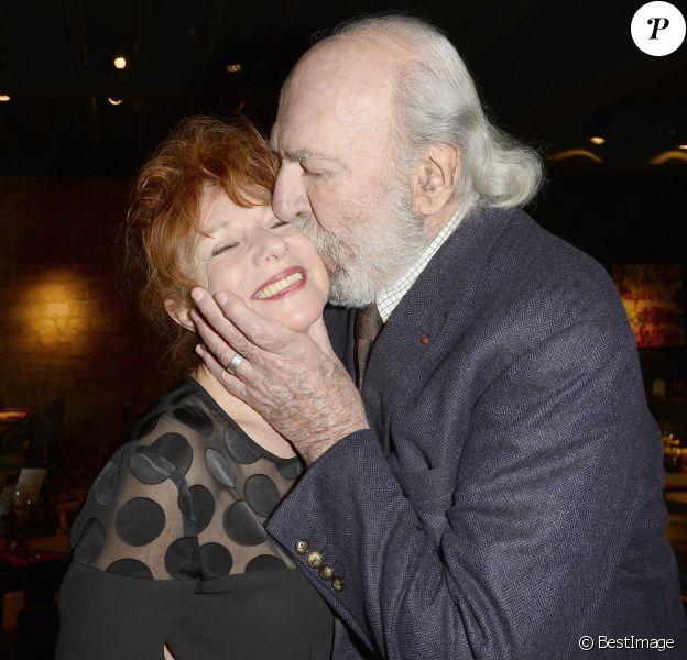 Jean-Pierre Marielle et sa femme Agathe Natanson - Soirée pour les 12 ans de l'Atelier du Maître Albert à Paris, le 30 mars 2015.