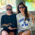 Exclusif - Thylane Blondeau et sa mère Véronika Loubry pendant leurs vacances en famille pour fêter les 18 ans de Thylane sur l'île de Staniel Cay, aux Bahamas, le 5 avril 2019.