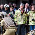 Le roi Philippe et la princesse héritière Elisabeth de Belgique ont visité vendredi 26 avril 2019 le Centre de formation des pompiers de Bruxelles, aussi appelé l'Ecole du feu, à la Caserne de l'Héliport. Ils ont assisté à des démonstrations et pris part à des exercices.