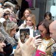 Mel C (Melanie Chisholm), Geri Halliwell, Mel B (Melanie Brown) - Les Spice Girls à la sortie des studios de Global Radio à Londres. Le 7 novembre 2018
