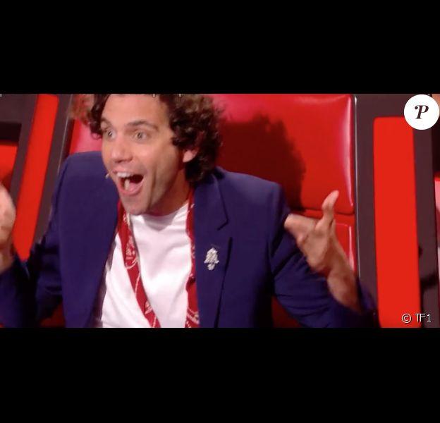 """Mika dans """"The Voice 8"""" sur TF1, le 4 mai 2019."""