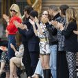 "Claudia Schiffer, Gaspard Ulliel, Guillaume Gouix et Lily-Rose Depp - Les célébrités au photocall du défilé ""Chanel Cruise Collection 2020"" au Grand Palais. Paris, le 3 mai 2019. © Olivier Borde/Bestimage"