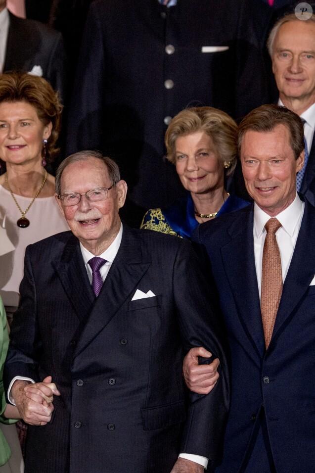 Le grand-duc Jean et son fils le grand-duc Henri - Cérémonie de clôture de l'année anniversaire des 125 ans de la dynastie Luxembourg-Na