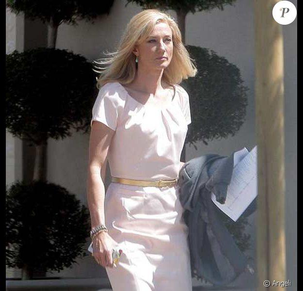 Joely Richardson à Los Angeles, rejoint le tournage de la série Nip/Tuck